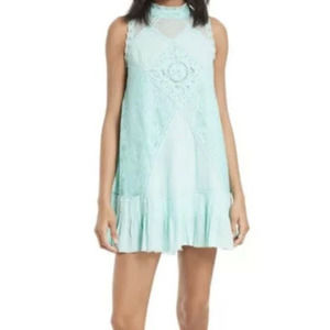 Free People FP One Angel Lace Mint Baby Doll Dress
